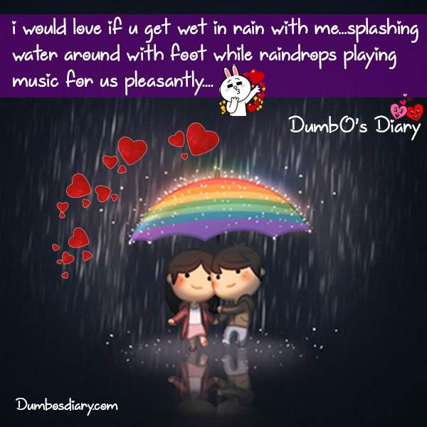 love in rain quote