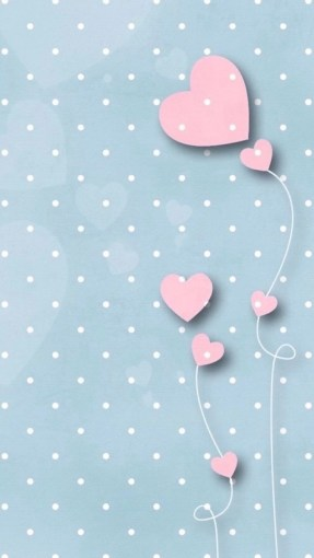 polka pink hearts whatsapp wallpaper