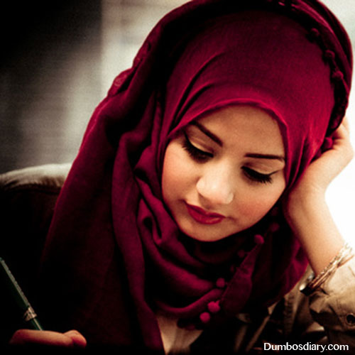 red arab hijab girly dp