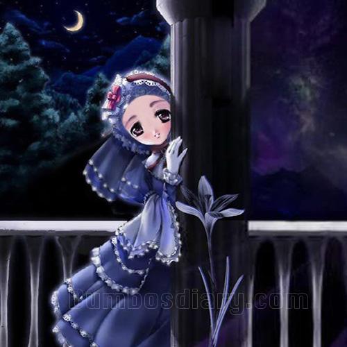 sad girl at night