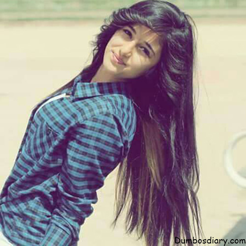 stylish girl with open hair