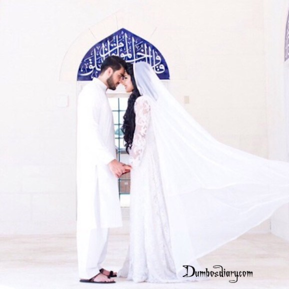 Beautiful muslim couple