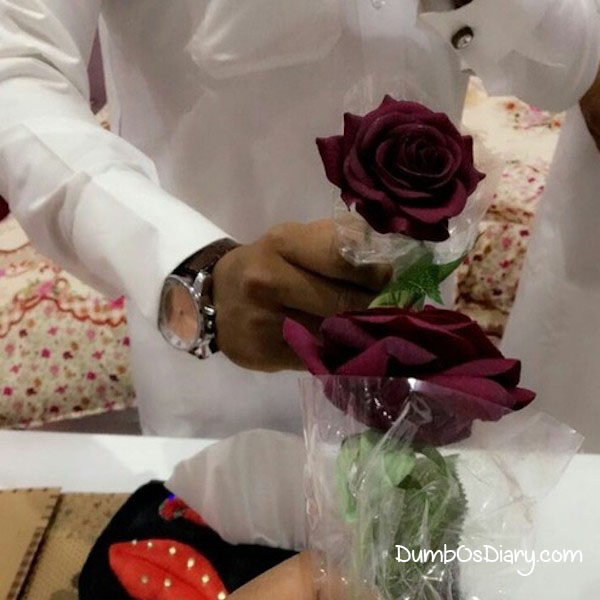 social media dp for dashing guys holding roses
