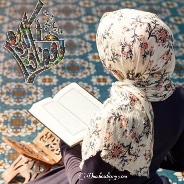 Hijabi Girl Reading Quran