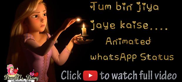 Tum Bin Jiya Jaye Kaise HD   WhatsApp Status   Rapunzel