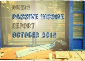 passive income report October 2015