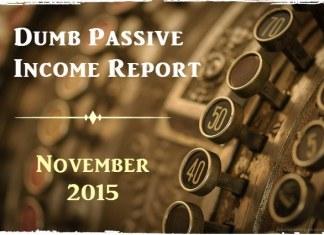 Passive Income Report November 2015