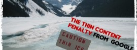 Getting the Thin Content Penalty from Google
