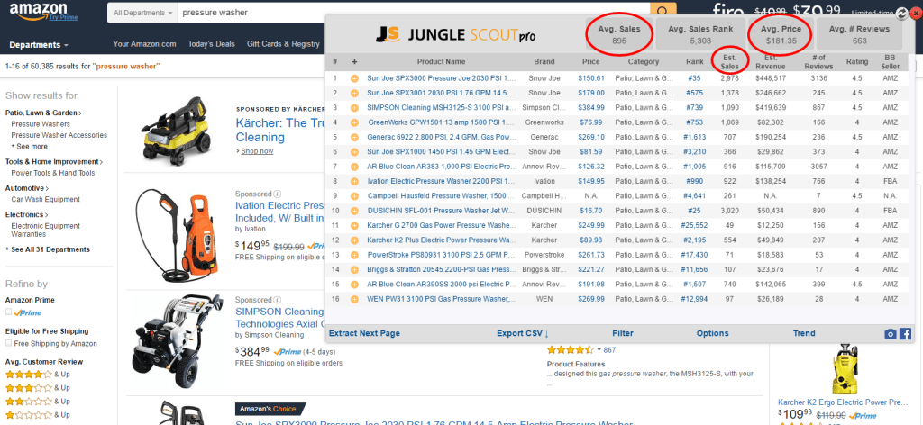 Jungle Scout Screenshot