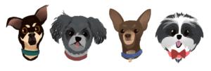 Dog Avatars Designed by Syd Weiler