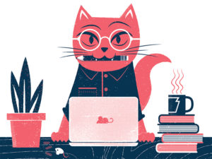 Cat with Glasses Design by James Olstein