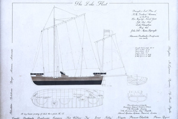 Lake Fleet boat schematic drawing
