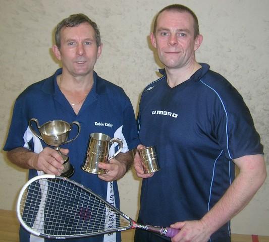Winner Robin Ridley and runner-up Neil McBryde