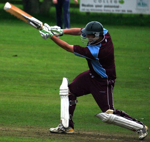 Dumfries CC's Geary in action © CricketEurope