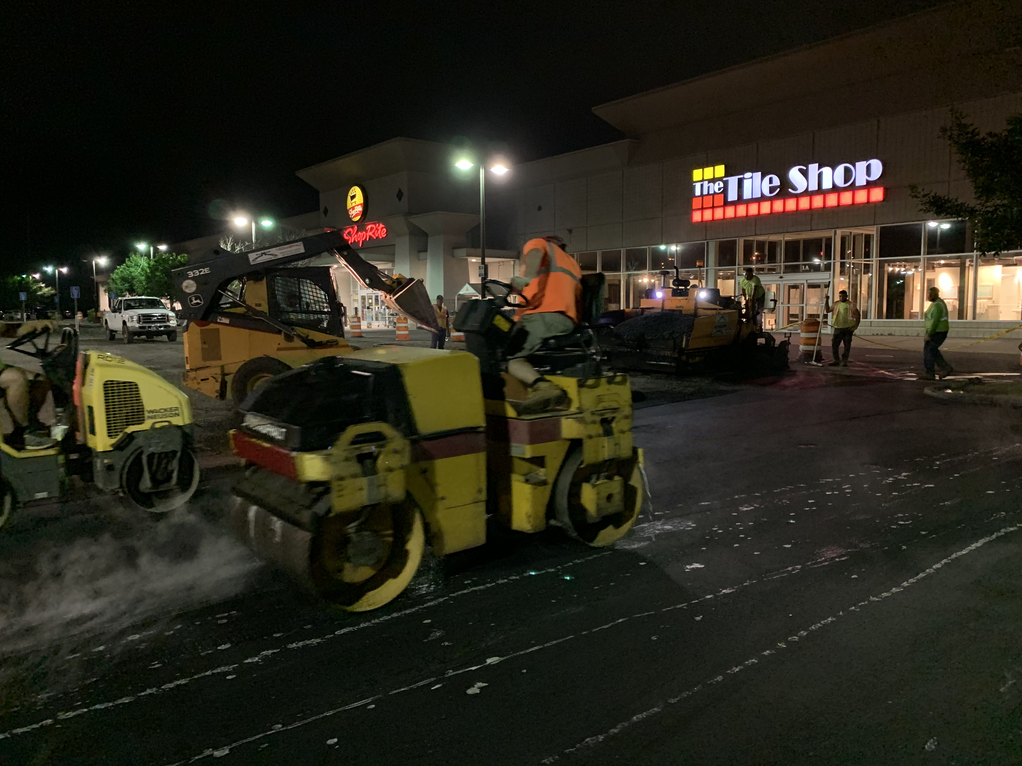 asphalt milling and paving project in