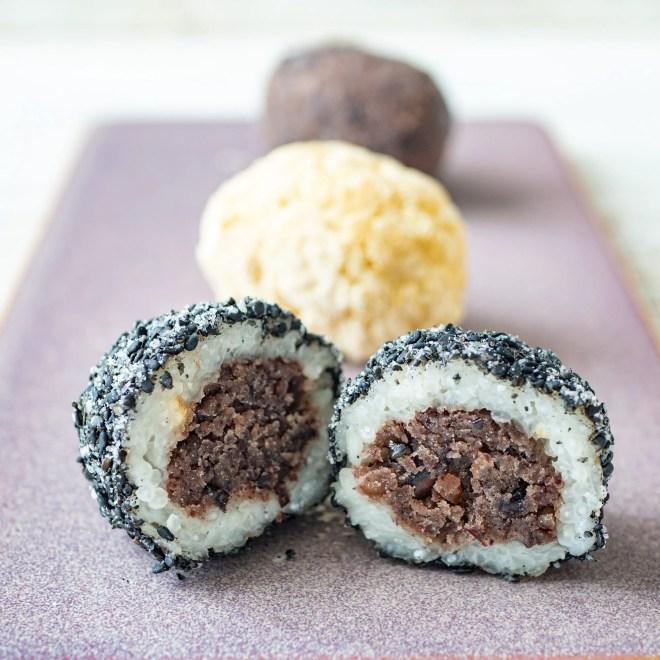 Ohagi - Bouchées au riz et à la pâte de haricots azuki - Recette japonaise