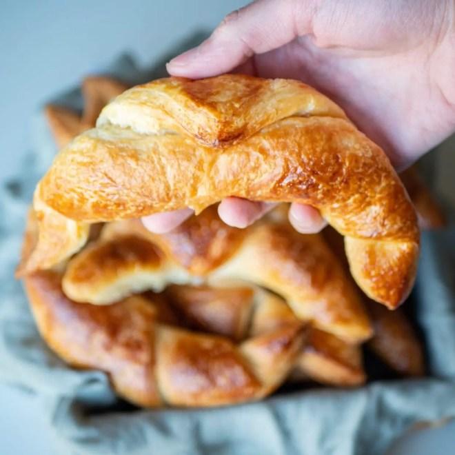 Croissants - Recette de pâte levée feuilletée