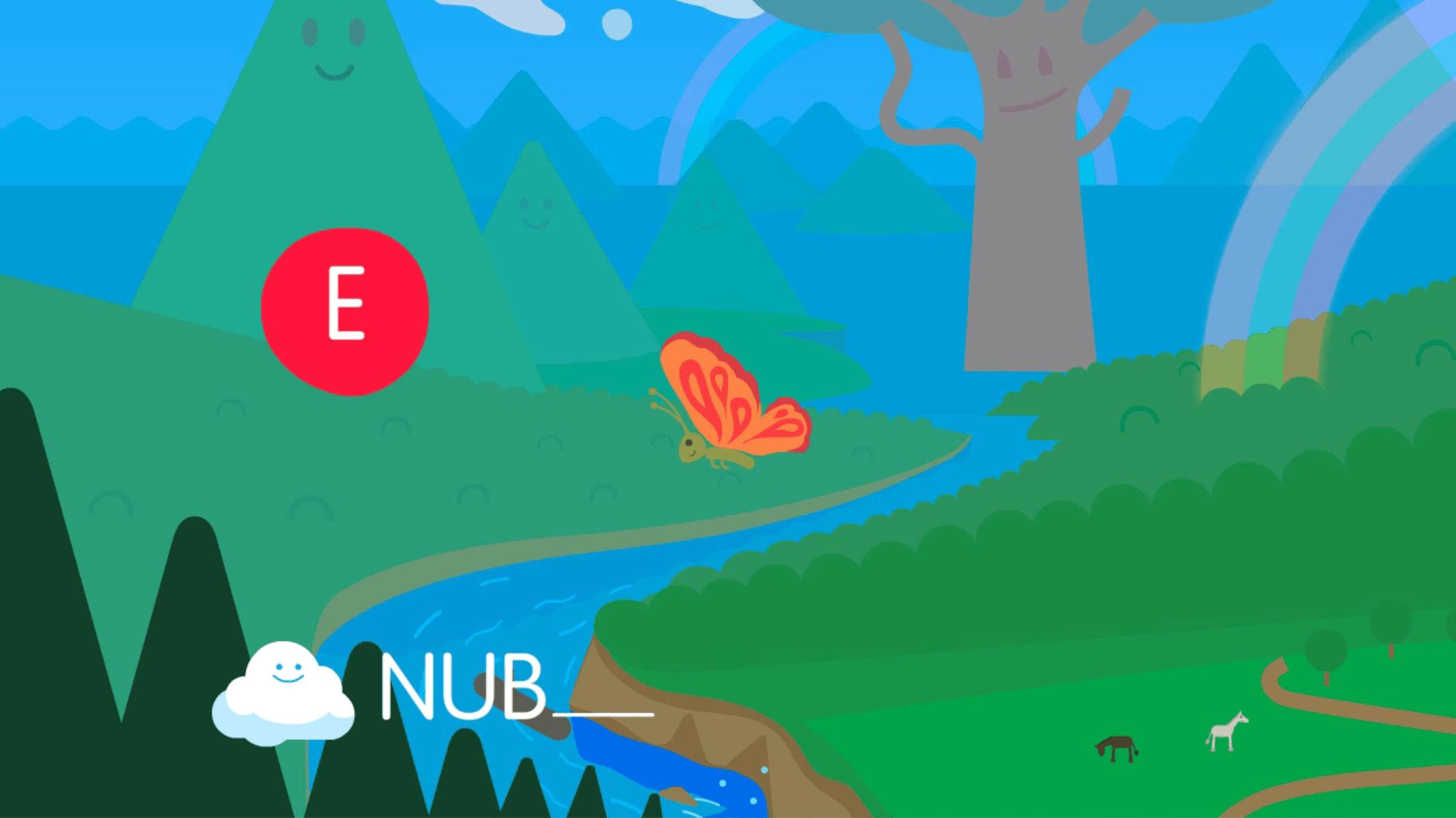 Completar palabras con vocales Palabra Nube