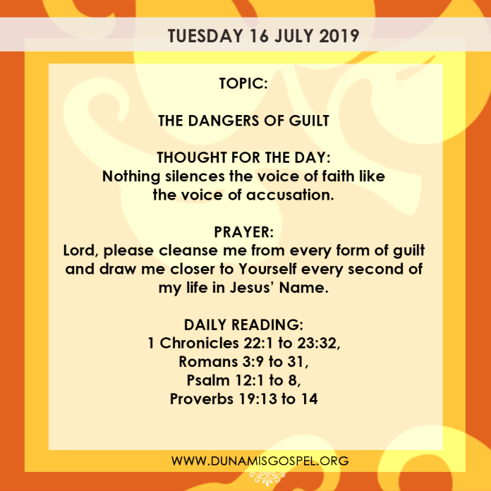 Seeds of Destiny 16 July 2019 - The Dangers of Guilt