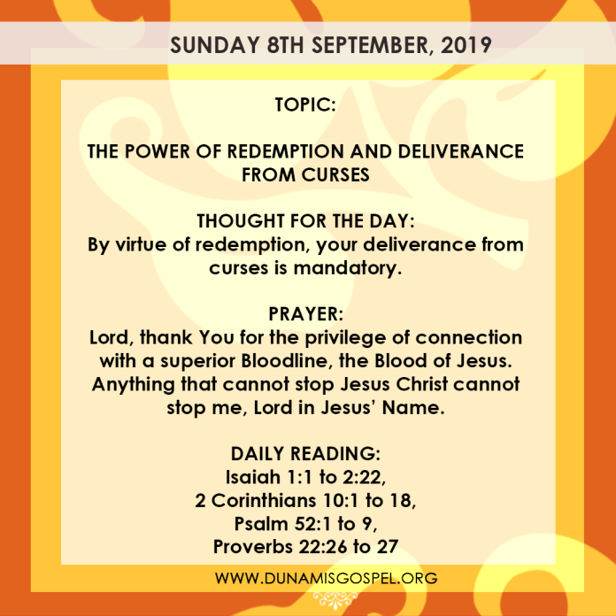 Seeds of Destiny Sunday 8 September 2019, Seeds of Destiny Sunday 8 September 2019 – The Power of Redemption And Deliverance From Curses