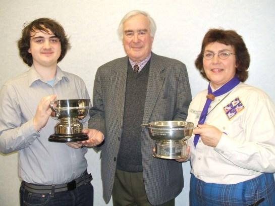 Bowe Cup Community council award 2007 Calum Jones jacquie Bisset