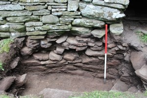 The inner broch wall, showing varying levels of preservation