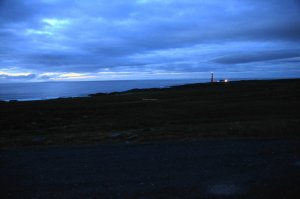 Slettnes the worlds most northerly mainland lighthouse, Gamvik, Nordkinn Peninsula, Troms og Finnmark, Norway – midnight view of the worlds most northerly mainland lighthouse - ...behind every picture, there is a story...