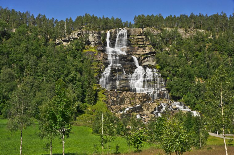 Tvinnevossfjels waterfall, Voss, Vestland County, Norway - ...behind every picture, there is a story...