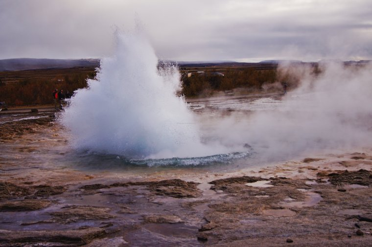 Strokkur at Haukadalur Geothermal Area, Iceland - ...behind every picture, there is a story...