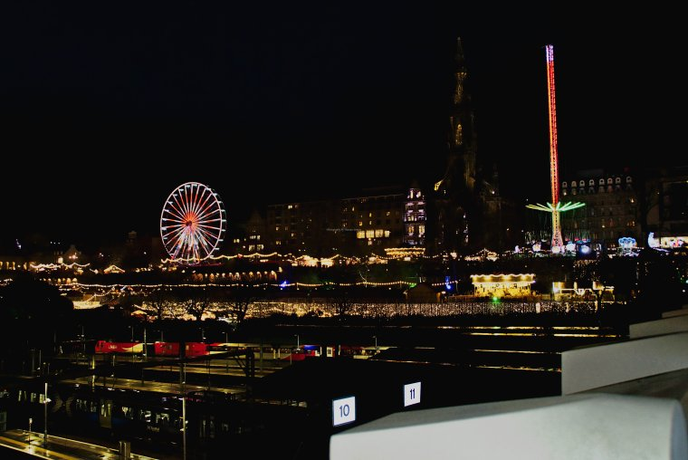 Edinburgh Christmas Market and Scott Monument, Edinburgh, Lothian Scotland - ...behind every picture, there is a story...