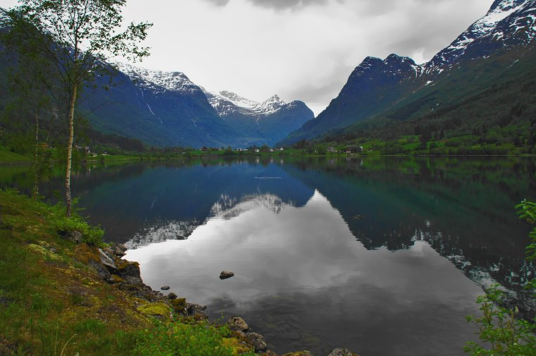 Floen Lake , Oldedalen Valley, Olden, Norway - ...behind every picture, there is a story...
