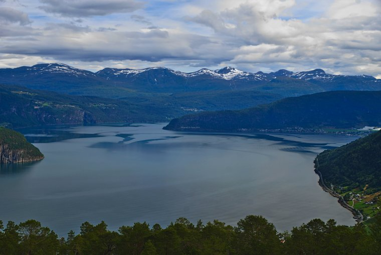 Innvikfjord, Vestland County, Norway fom above Utvik - ...behind every picture, there is a story...