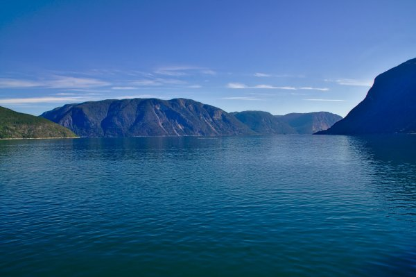 Sognefjord from the Laerdal to Sogndal ferry