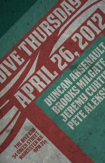 April 26, 2012 Dive Bar Poster