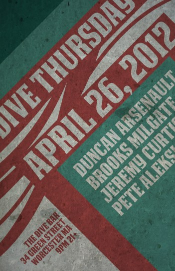 April 26, 2012 Dive Bar Poster