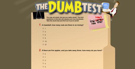 The Dumb Test Website
