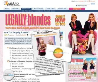 Quibblo Legally Blondes Micro Site