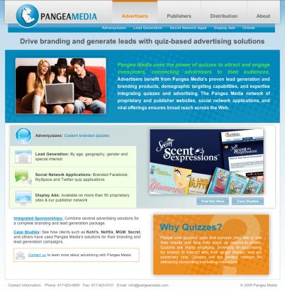 Pangea Media Corporate Website V2