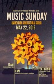 Music Sunday Poster