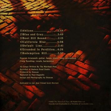 The Marshall Pass CD back