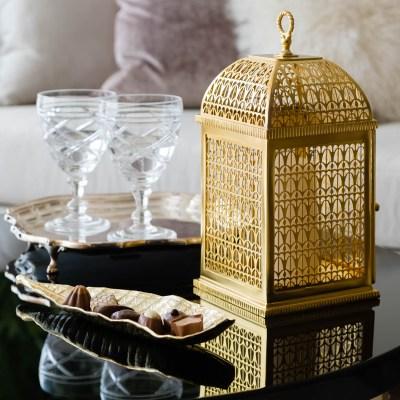 A detail shot of an Arabic style lantern for a Ramadan interior shoot
