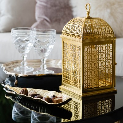 A detail shot of an Arabic style lantern for a Ramadan interior shoot