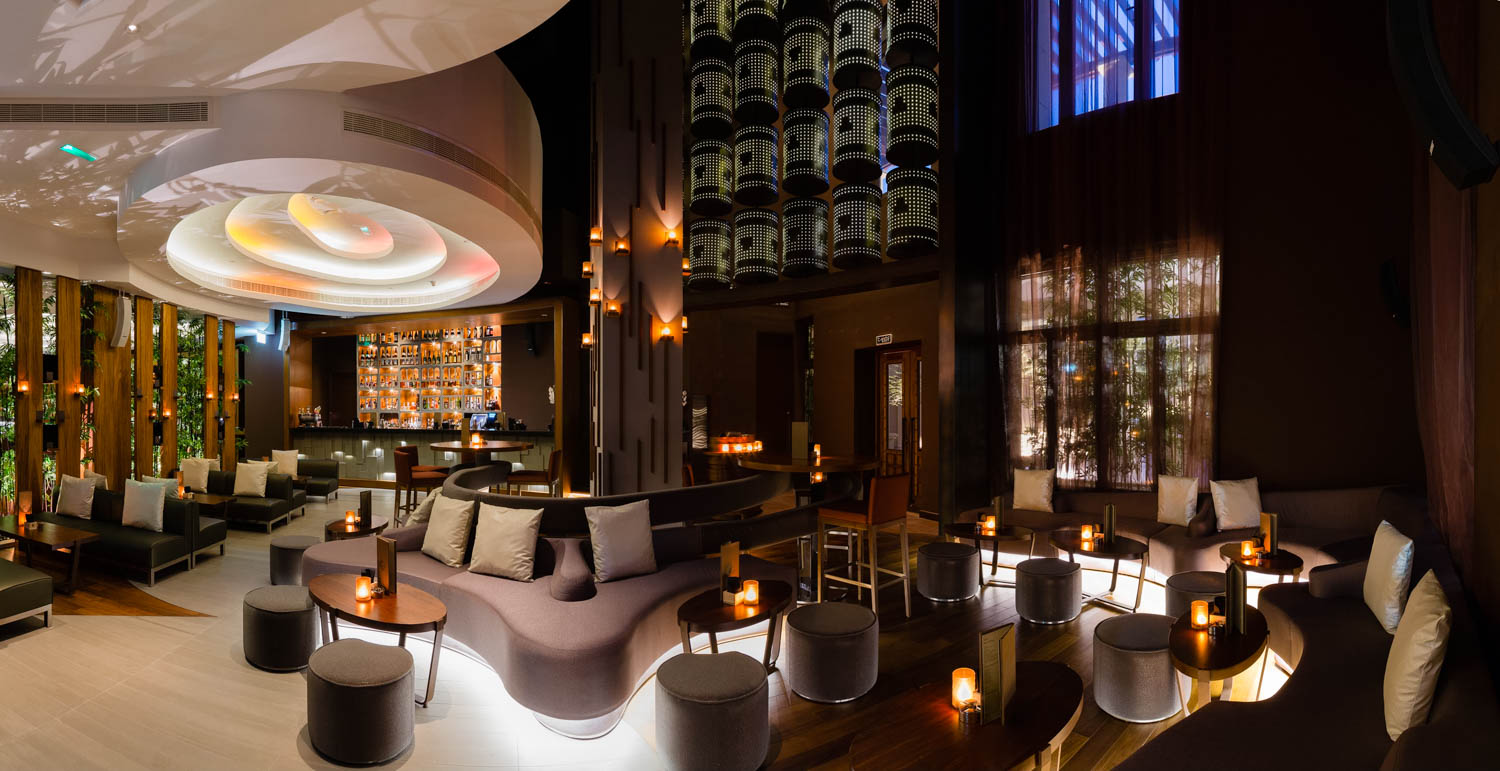 An interior photograph of Koi restaurant in the St Regis Hotel, Abu Dhabi