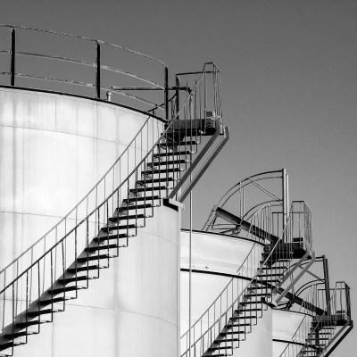 Oil tanks at the port in Abu Dhabi, UAE