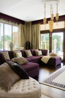 Living room in a luxury Al Barari villa, Dubai