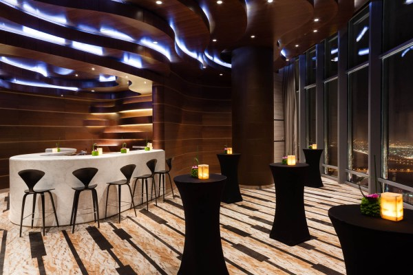Interior Photography of a function room in the Armani Hotel, Burj Khalifa, Dubai