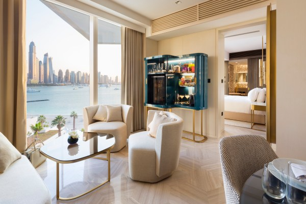 An interior Photograph by Duncan Chard of a suite in the The Viceroy Hotel on The Palm Dubai