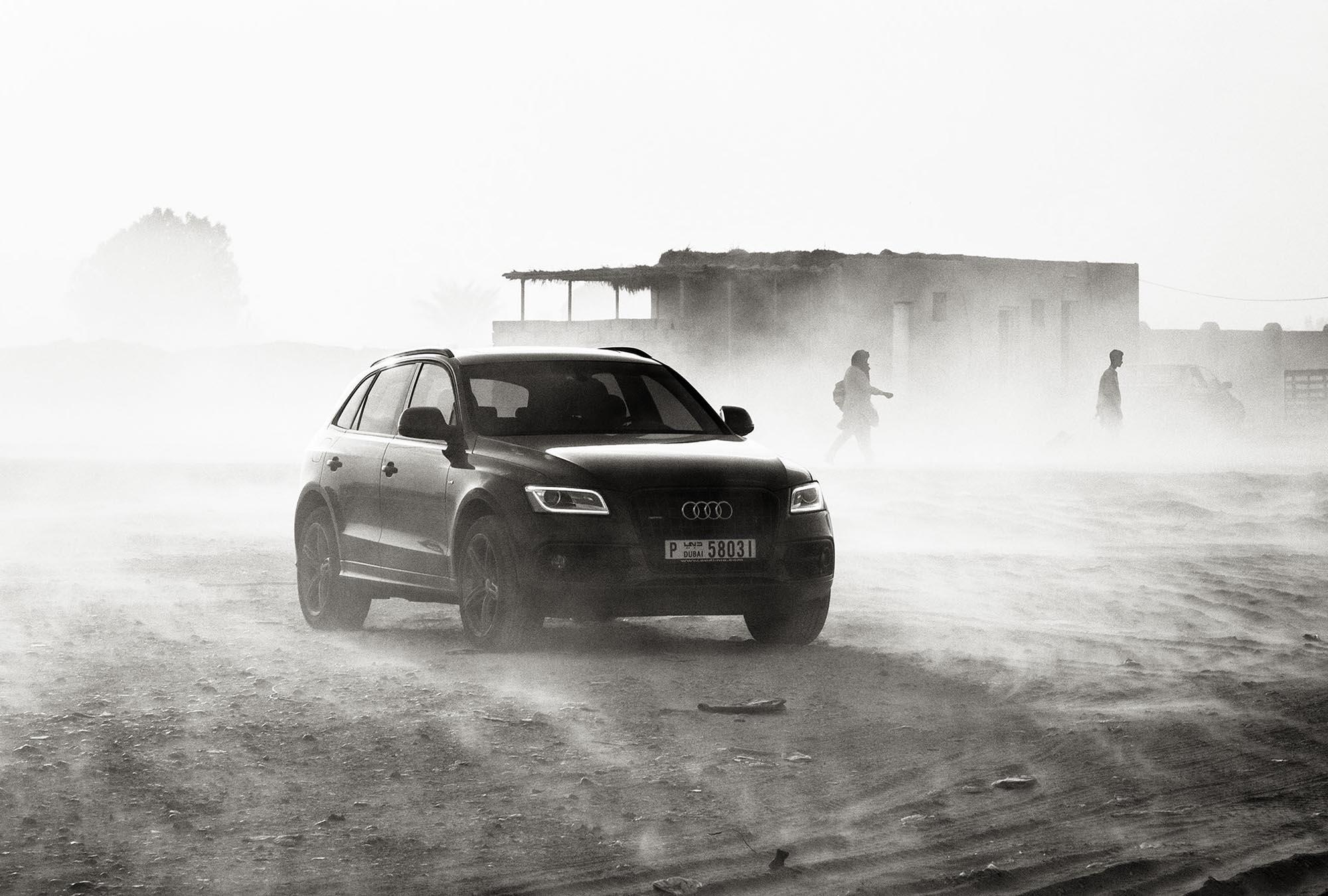 Dubai Photographer Duncan Chard- Audi in a sandstorm