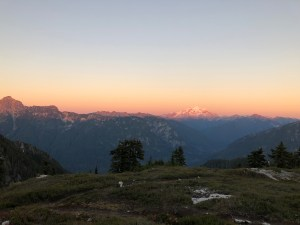 Glacier Peak at Sunset