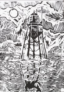 Chapman Light on the Thames features in Chapter 1 of Joseph Conrad's Heart of Darkness